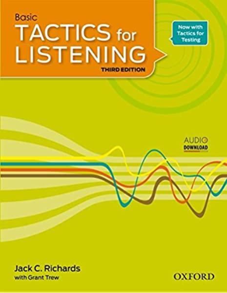 Tactics for Listening Basic 3rd | کتاب Tactics for Listening Basic | خرید کتاب Tactics for Listening Basic| کتابتکتیکس فور لیسنینگ | خرید کتابتکتیکس فور لیسنینگ |کتاب تکتیک بیسیک| خرید کتاب زبان |کتاب تکتیکس سبز